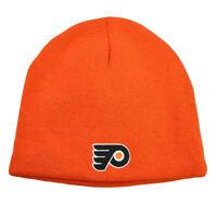 NHL LNH Reversible Zephyr Nordic Cuffless Beanie Knit Hat Philadelphia Flyers
