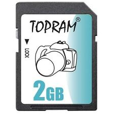 TOPRAM 2GB SD 2G SD Secure Digital Card for Camera GPS Tablet non-HC devices