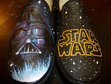Vans Slip On Senza Lacci Black Star Wars Guerre Stellari [Prodotto Customizzato]