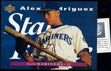 ALEX RODRIGUEZ SIGNED 1995 UPPER DECK  5X7 CERTIFIED AUTOGRAPH