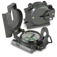 military style lensatic liquid filled compass gray