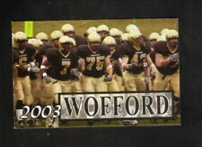 Wofford Terriers--2003 Football Pocket Schedule