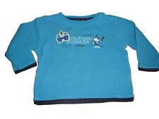 s. Oliver tolles Langarm Shirt Gr. 68 blau mit witzigem Druckmotiv !!
