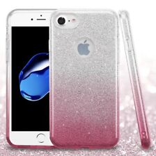 COVER Custodia Glitter GRADIENTE Morbida Silicone GEL per APPLE IPHONE 7 Rosa