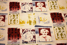 NEW Fabric Marilyn Monroe Retro Cotton Drill HALF METRE x112cm Quilting Material