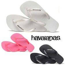 Sandali e scarpe nere Havaianas in gomma per il mare da donna