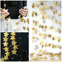 4M Star Paper Garland Banner Bunting Wedding Xmas Party Birthday Home Wall Decor
