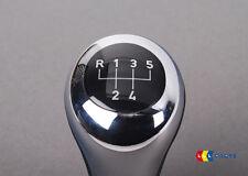 BMW NUOVO ORIGINALE 3 Z3 MANUALE Cambio Manopola 5 velocità cromato lucido in pelle 1434003