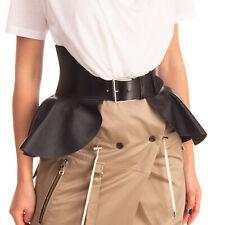RRP €1845 ALEXANDER McQUEEN Leather Peplum Corset Belt Size 40/S 70/28 Black