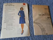 Vintage 1970s Silver Needles sewing pattern No: 60 Lady's tailored coat uncut