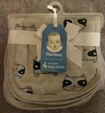 New listing Gerber 4pack Terry Lined Burp Cloths - Certified Oeko-Tex