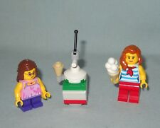 2 NEW LEGO MINIFIGURES & ICE CREAM STAND FROM 60153 FUN AT THE BEACH
