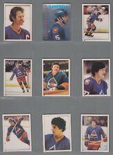 1981-82 O-Pee-Chee Hockey Sticker Colorado Rockies Complete Team Set (9) OPC