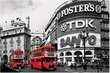 A3 Size - London Double Decker Red Bus Poster for Wall / Decoration  #36