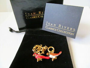 Joan Rivers Noah's Ark Enamel Charms with Gold Tone Extenders Cardinal Birds