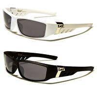 New Mens Black White Wrap Designer Fashion Locs Sport Sunglasses UV400 LC91039