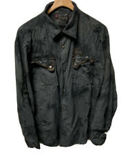 Fusai Men's Button Up Long Sleeve Shirt Size XXL