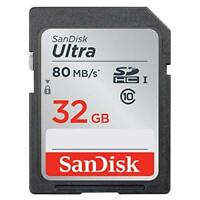 SanDisk 32GB Ultra Class 10 SDHC Uhs-I Memory Card Up To 80MB Grey/black 1E