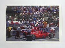 1989 Indianapolis 500 Pit Lane #7 Tom Sneva Vince Granatelli Racing Postcard IMS