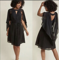 ModCloth Icing On The Cape Dress Dotted Black NWOT