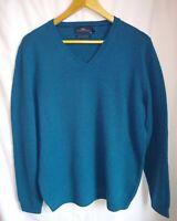 Next Signature Men's 100% Lambswool V Neck Jumper/Pullover Size XL