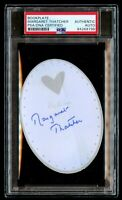 Margaret Thatcher signed autograph 3x4 Bookplate Former UK Prime Minister PSA