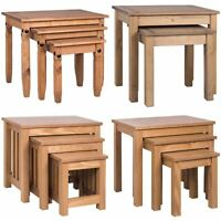 Nest of Tables 2 3 Table Units Wood Living Room Side Lamp Coffee Furniture