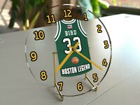 "NBA BASKETBALL JERSEY THEMED DESKTOP CLOCKS - 7"" x 7"" x 2"" - FREE CUSTOMIZATION"