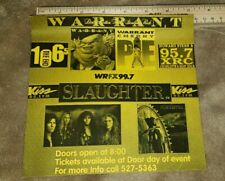 Warrant Slaughter radio station concert ad charlotte nc free Us shipping