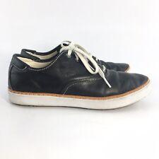 Ugg Eyan Wax Black Leather Sneakers Black 7.5 UGG S/N 1005365