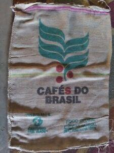 Coffee Bag Jute Burlap Sack Authentic Cafe Do BrasilBrazil