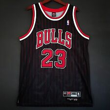 100% Authentic Michael Jordan Bulls Pinstripe Nike NBA Jersey Size 48 XL