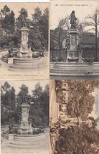 Lot 4 cartes postales ancienne VALENCIENNES statue watteau