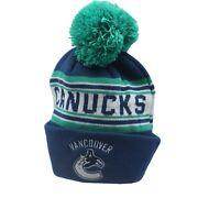 Vancouver Canucks NHL Reebok Youth Boys (8-20) Cuffed Pom Knit Winter Beanie
