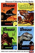 Large A4 Dinosaur Colouring Books Learning Fun Packed Activity Puzzles Facts