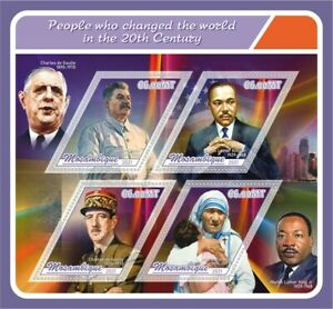 Stamps  Famous People Martin Luther King, Nelson Mandela, Mother Teresa, Stalin