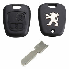Peugeot 406 206 306 106 2 Button Replacement Remote Key Fob Case and 406 Blade
