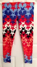 **NEW** LuLaRoe Leggings - OS - Americana Red White Blue Ombre Stars - UNICORN!