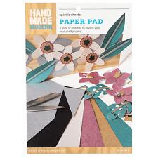 12ct Glitter Craft Paper - Hand Made Modern - 3 Pack