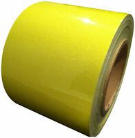 Reflective Tape Lemon Yellow 100mm x 5m Weatherproof Strong