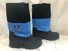 SnowStoppers Childrens Snow Boot with Extra Long Sleeve Blue/Black Size 5 Youth