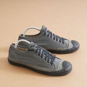 Converse John Varvatos Mens Sneakers Shoes Gray Houndstooth Fabric Size 9 B