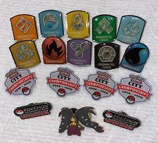 17 Pokemon Pins - TCG League, City Championships, Organized Play Winner Pins, +