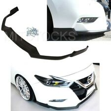 Fits For 16-18 Nissan Maxima ADD-ON Front Bumper Lip Spoiler Body Kit PU