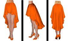 Satin High Low Maxi Asymmetric Asym Skirt Flamenco Belly Dance Gypsy Ruffle Jupe