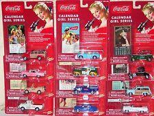 Coca Cola Johnny Lightning Calendar Girls Vehicle Complete Set (12)  NIB