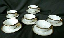 6 tasses à thé café en porcelaine de Limoges