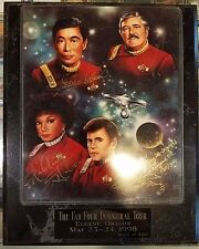 Star Trek The Fab Four Inagural Tour Plaque Eugene, OR May 23-24, 1998 #120 of 3
