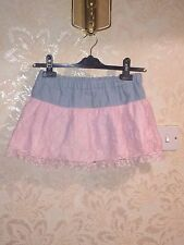 MA*RS Stretchy Light Pink X Blue Lace Skirt With Inner Shorts - Hime Gyaru