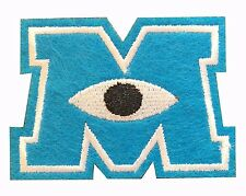 Disney Monsters Inc. University Embroidery Iron / Sew On Patch Motif #